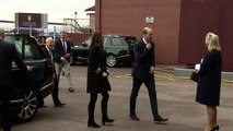 William and Kate visit Aston Villa and the Prince can't help talking tactics