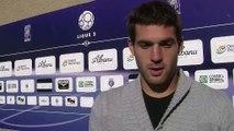 Denis Petric le portier Istréen avant la rencontre face à Clermont