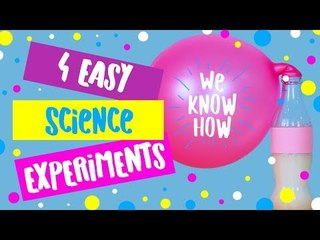 Science is awesome! 4 easy science experiments to do at home