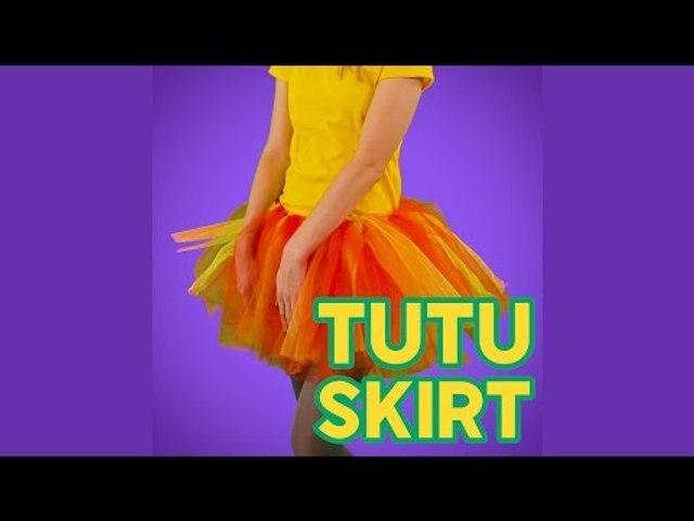 Easy DIY no sew Tutu skirt