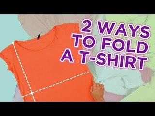 2 ways to fold yout T-shirt + DIY T-shirt folding board