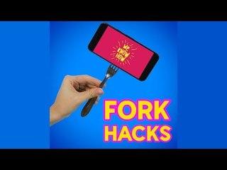 Cool lifehacks with forks