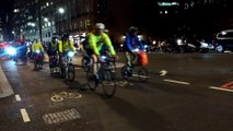 Cycle Superhighway in London - Cyclists back home everyday around 5pm