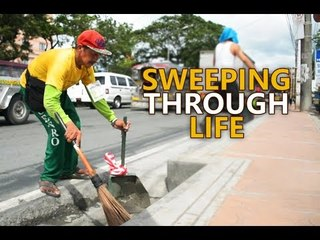 Hardworking Lolo sweeps the streets despite disability