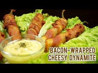 Bacon-wrapped cheesy dynamite
