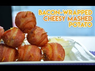 Bacon-wrapped Cheesy Mashed Potato
