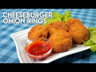Mouthwatering cheeseburger onion rings recipe