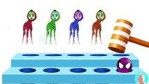 Masha and the Bear Giraffe Body Head Learn colors water balloon Finger Family nursery rhymes