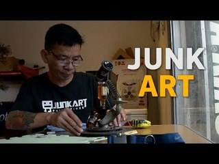 Incredibly talented Pinoy makes beautiful arts out of scraps