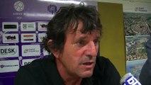 L'entraîneur du FC Istres José Pasqualetti après le nul face à Chateauroux