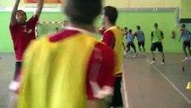 Une séance basket pour les joueurs du FC Martigues cet après-midi