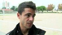 Le défenseur du FC Martigues Yohan Lamothe après le succés du FCM à Berre