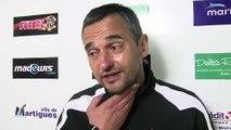 La réaction de l'entraîneur du FC Martigues Jean-Luc Vannuchi