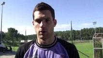 Le gardien Slovéne du FC istres Denis Petric