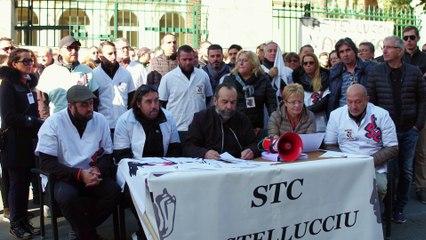 VIDÉO. Le STC Castelluccio bloque la préfecture d'Ajaccio après 30 jours de conflit