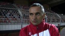 La réaction de l'entraîneur sang et or Jean-Luc Vannuchi