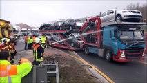 Regardez comment les pompiers allemands empêchent les automobilistes curieux de filmer lors de leurs interventions