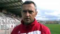 Jean-Luc Vannuchi l'entraîneur du FCM avant le déplacement à Monaco