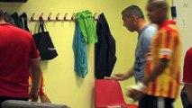 La caméra Maritima a suivi le coach du FCM à la pause de Martigues-Rodez
