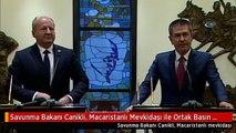 Savunma Bakanı Canikli, Macaristanlı Mevkidaşı ile Ortak Basın Toplantısı Düzenledi