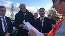 Lettre lue par un représentant CFDT du personnel gréviste de l'hôpital Châteaubriant- Nozay-Pouancé