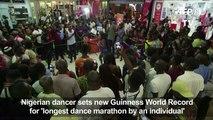 Nigerian dancer breaks 'longest dance' world record