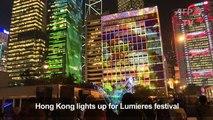 Hong Kong lights up for Lumieres festival