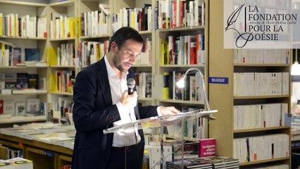 Discours d'Emmanuel Echivard, lauréat du Prix 2017