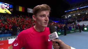 Interview: David Goffin after the first rubber