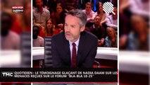 """Quotidien : le témoignage glaçant de Nadia Daam, menacée sur le forum """"Bla-bla 18-25"""" (vidéo)"""