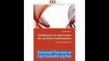 Stabilisation et observation des systèmes fractionnaires Théorie et applications (Omn.Univ.Europ.) (French Edition)