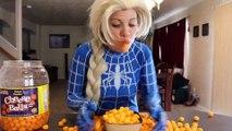 Frozen Elsa vs Venom Girl vs Hulk vs Olaf & Spiderman - Food Fight _ Real Life Superhero Movie | Superheroes | Spiderman | Superman | Frozen Elsa | Joker