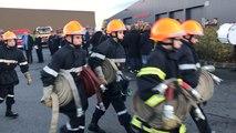 Les jeunes sapeurs pompiers en manoeuvre à Vire