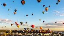 Millier de montgolfières dans le ciel : Timelapse MAGIQUE du Albuquerque Balloon Fiesta!