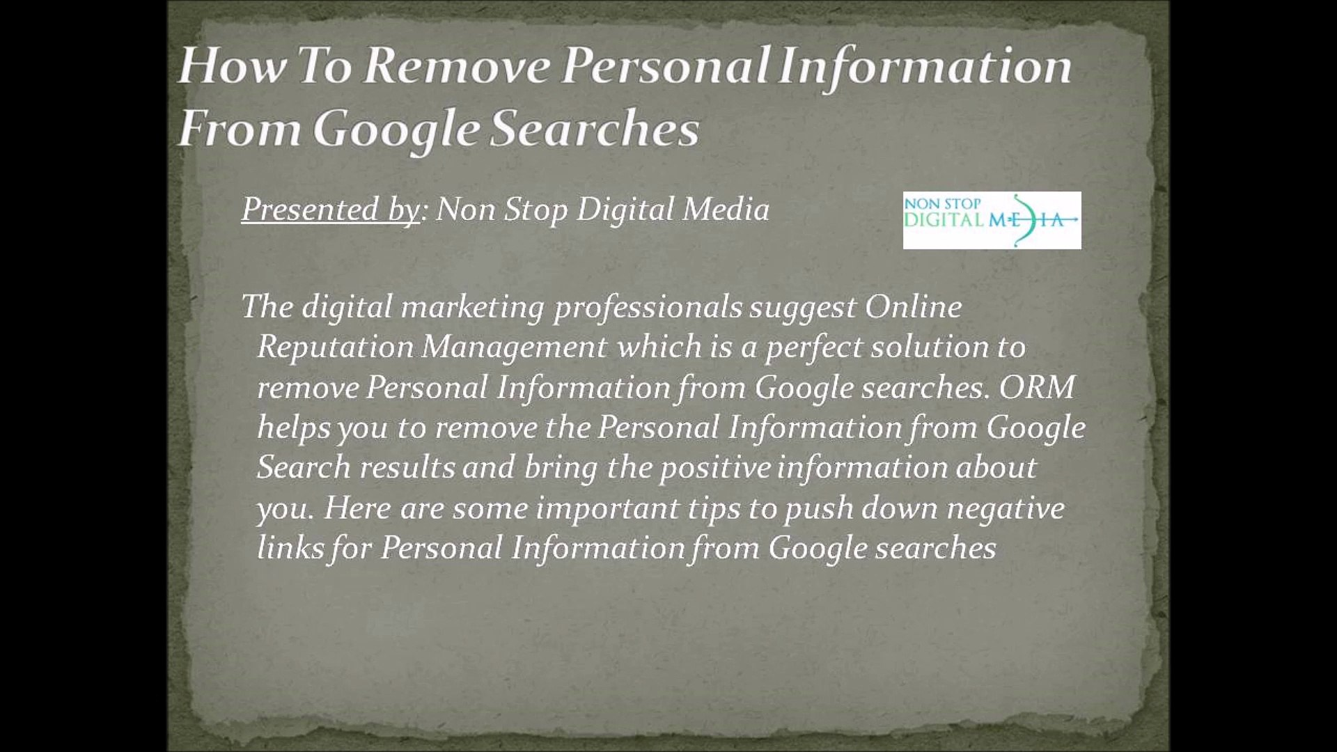 How To Remove Personal Information From Google Searches