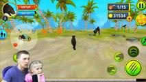 Симулятор ПАНТЕРЫ выживание в Джунглях #1 новая мультяшная игра от FFGTV играем Миланой в мульт игру-TKhJ63hq3sA