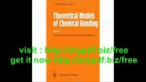 The Concept of the Chemical Bond Theoretical Models of Chemical Bonding Part 2 (Pt. 2)