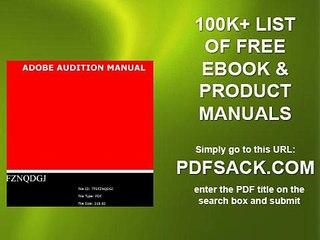 Adobe Audition Manual