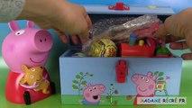 58.Peppa Pig Surprises Boîte à outils Kinetic Sand Toolbox Chupa Chups Sable Magique et Œufs Surprise