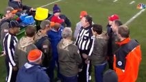 Referee Gets Tackled And Is Carted Off | Patriots vs. Broncos | NFL