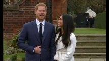 Les images du prince Harry et de Meghan Markle dans les jardins du palais de Kensington