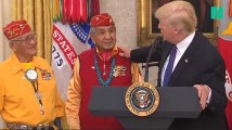 """La Maison-Blanche n'a aucun regret après le dérapage de Trump sur """"Pocahontas"""""""