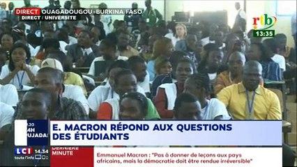 Échange musclé entre Emmanuel Macron et des étudiants de l'université de Ouagadougou
