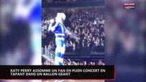 Katy Perry assomme un fan en plein concert avec un ballon géant (vidéo)