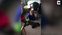 You've got a friend in me: Boy who 'never had a friend' finally finds pedigree chum in cockapoo pup