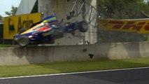 Ernesto Viso almost fatal crash at Magny Cours (30 June 2007) GP2