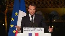 Discours du Président de la République à la communauté française de Ouagadougou