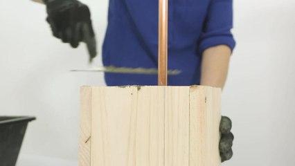 La liseuse béton DIY