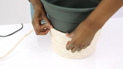 Le panier corde DIY