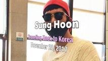 171128 Sung Hoon 성훈 Airport Fashion at Taiwan Taoyuan Airport Heading Back to Korea